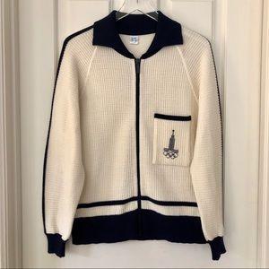 Vintage | 1980 Olympic Zip Front Cardigan